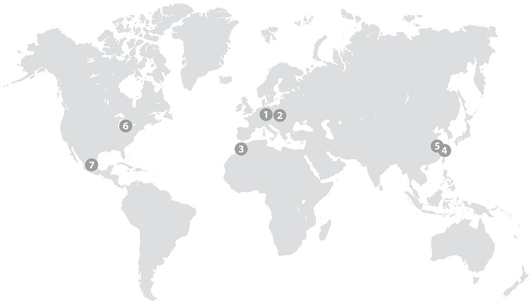 Locations worldwide